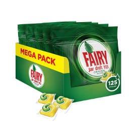 Pack de 125 cápsulas lavavajillas Fairy Original limón baratas, lavavajillas barato, ofertas supermercado