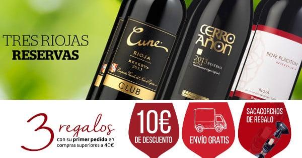 6 botellas de vino Rioja Reserva barato, vino de calidad y barato, chollo