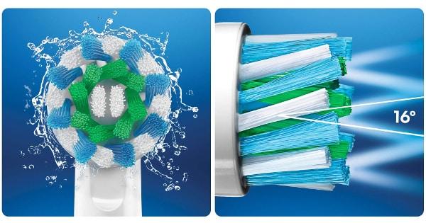 Pack de 5 recambios Oral-B CrossAction baratos, recambios baratos, ofertas en cepillos de dientes chollo