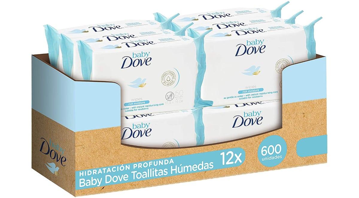 Pack de 600 toallitas Baby Dove hidratación profunda barato, artículos de supermercado baratos, ofertas para bebés