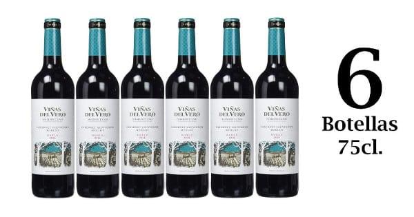 6 botellas de vino tinto Viñas del Vero D.O. Somontano barato, vino barato, chollo