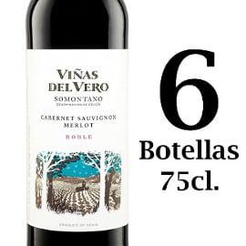 6 botellas de vino tinto Viñas del Vero D.O. Somontano barato, vino barato