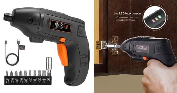 Atornillador eléctrico Tacklife SDP60DC barato, herramientas baratas, chollo