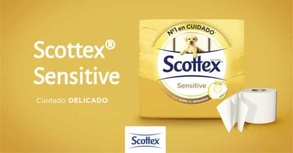 42 rollos de papel higiénico Scottex Sensitive baratos. Ofertas en supermercado, chollo