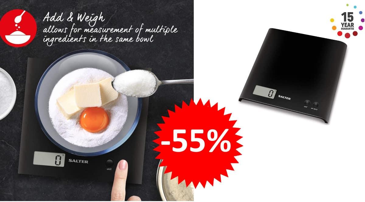 Báscula de cocina Salter 1066 BKDR15 barata, pesas baratas, ofertas hogar, chollo