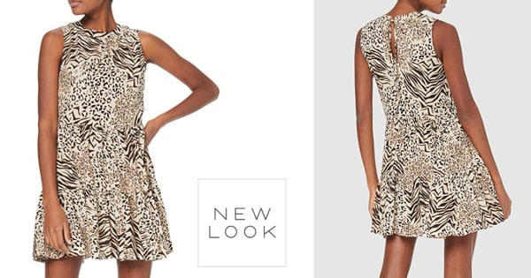 Vestido New Look Mixed Animal barato, vestidos baratos, ofertas en ropa, chollo