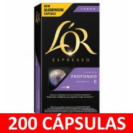 200 cápsulas de L'Or Espresso Lungo Profondo baratas. Ofertas en café, café barato