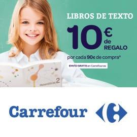 Libros de texto en Carrefour 10 euros de regalo por 90 euros de compra, libros de texto baratos