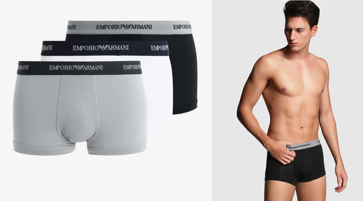 Pack de calzoncillos Emporio Armani baratos, bóxer de marca baratos, ofertas en ropa interior, chollo