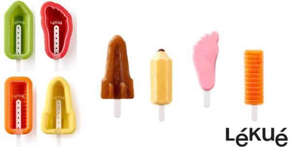 Set de 4 moldes para helado Icónicos Lékué baratos, moles baratos, ofertas cocina, chollo