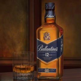 Whisky Ballantines 12 años barato, whiskys baratos