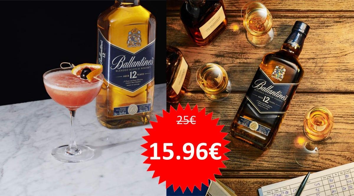 Whisky Ballantine's Blue 12 barato. Ofertas en whisky, whisky barato, chollo