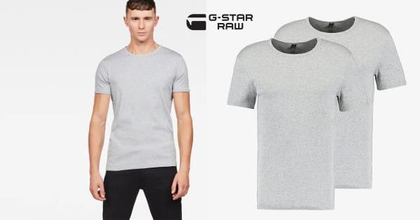 2 camisetas básicas G-Star Raw baratas, camisetas básicas baratas, chollo