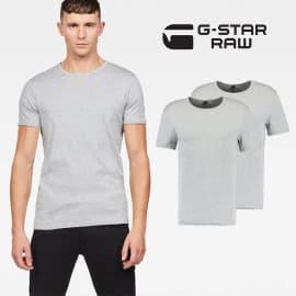 2 camisetas básicas G-Star Raw baratas, camisetas básicas baratas