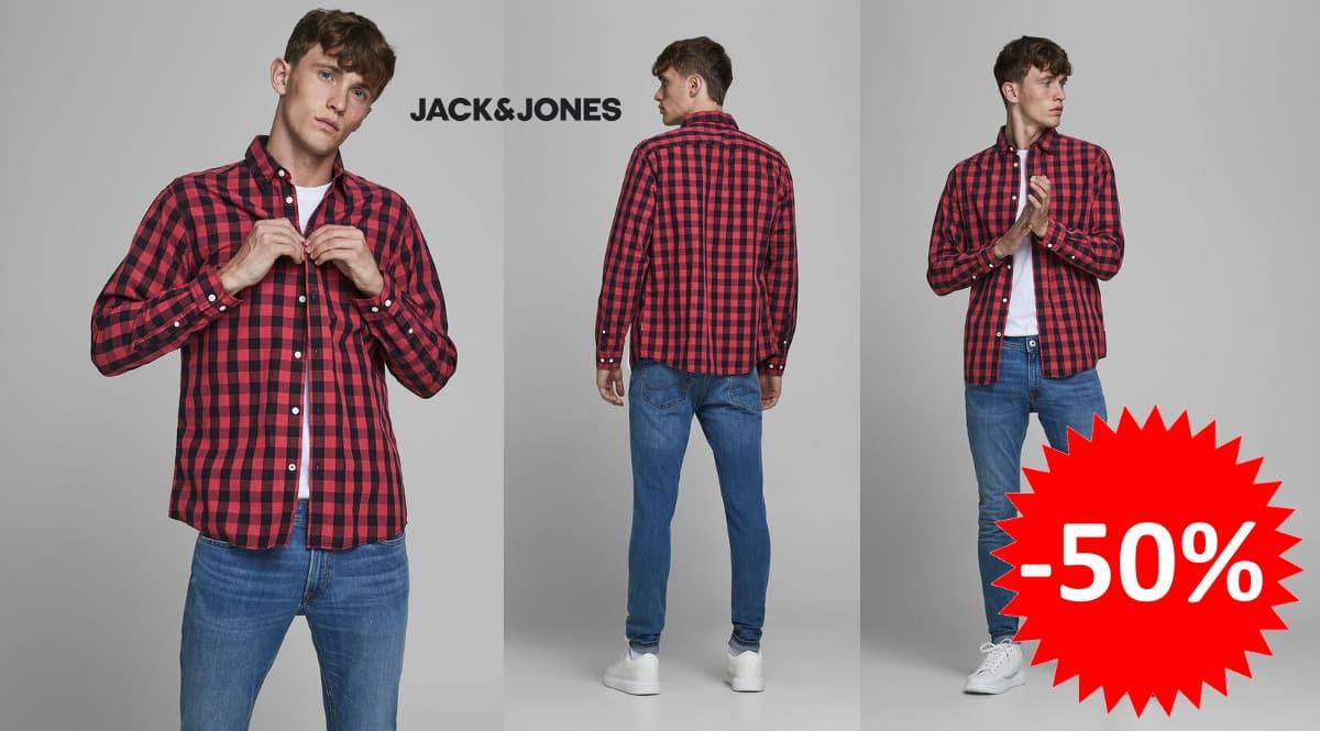 ¡¡Chollo!! Camisa para hombre Jack & Jones Egingham sólo 14.99 euros. 50% de descuento.