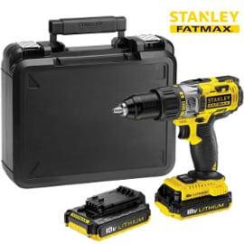 Taladro atornillador percurtor Stanley 18V con 2 baterías y maletín barato, herramientas baratas
