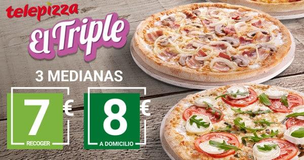 Triple de Telepizza, pizzas baratas, chollo