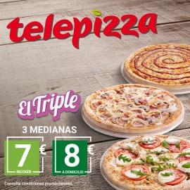 Triple de Telepizza, pizzas baratas