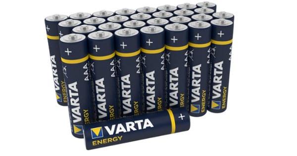 30 pila Varta Energy AA baratas. Ofertas en pilas, piilas baratas, chollo