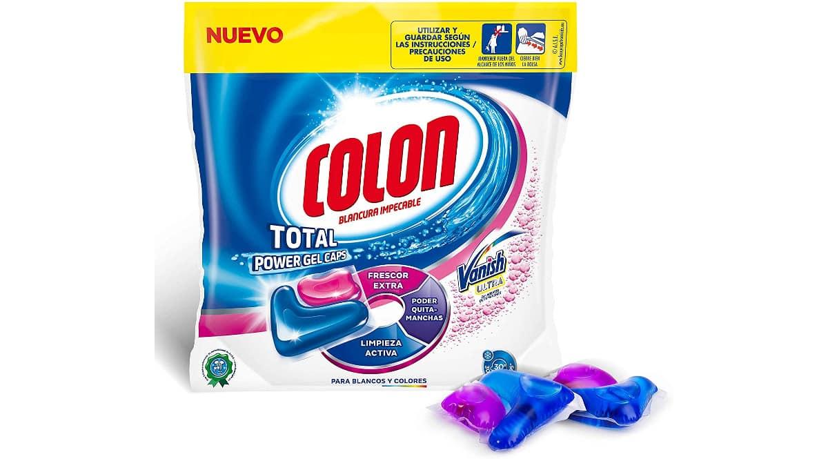 Detergente para la ropa en cápsulas Colon Vanish quitamanchas barato, detergentes de marca baratos, ofertas supermercado, chollo