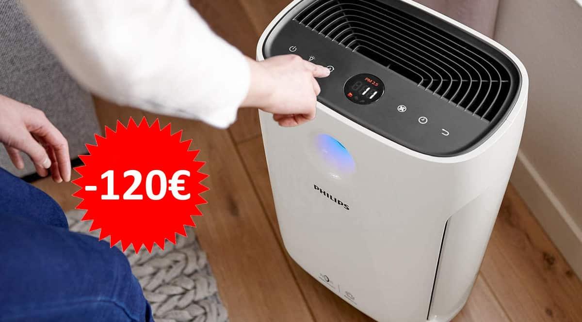 ¡¡Chollo!! Purificador de aire Philips Serie 2000 AC2887/10 sólo 229 euros. Te ahorras 120 euros.