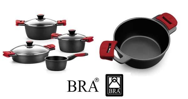 Batería cocina BRA Premiere de 4 piezas barata, ofertas en productos de cocina, ollas baratas chollo