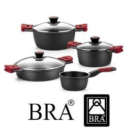 Batería cocina BRA Premiere de 4 piezas barata, ofertas en productos de cocina, ollas baratas