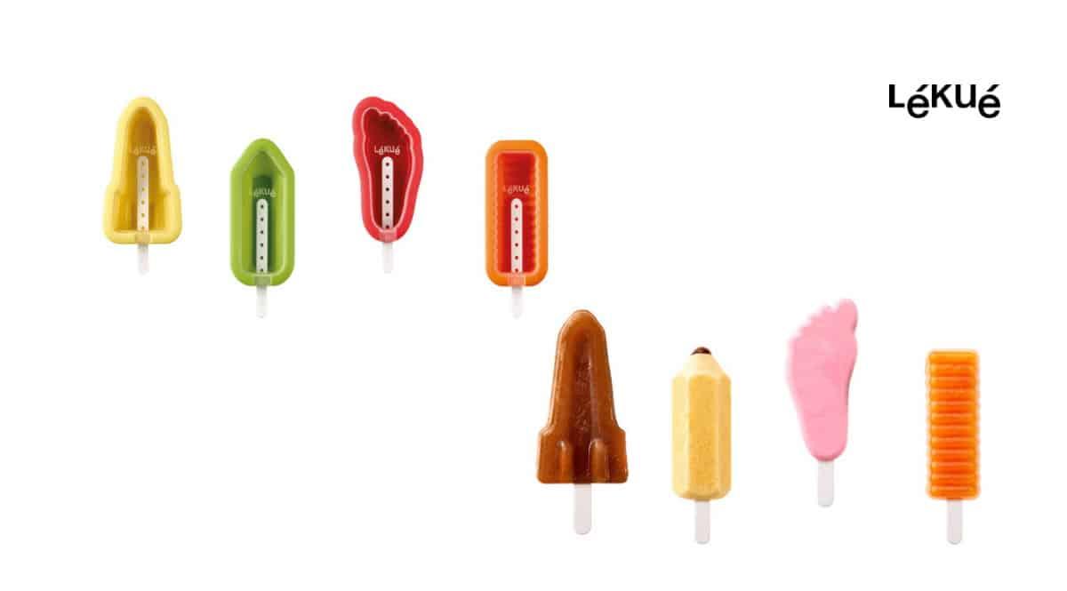 Moldes de helados icónicos Lékué baratos, moldes de helados caseros baratos, ofertas hogar, chollo