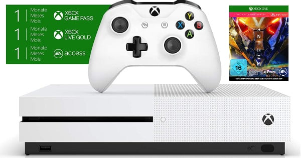 Pack Xbox One S 1TB con Anthem barata, packs consolas baratos, chollo