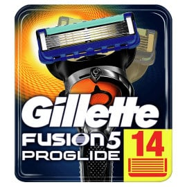 Pack de 14 recambios de cuchillas Gillette Fusion 5 ProGlide baratas, ofertas en recambios de afeitar, cuchillas de afeitar baratas