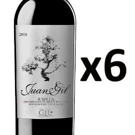 Pack de 6 vinos Juan Gil Jumilla baratos, vino barato