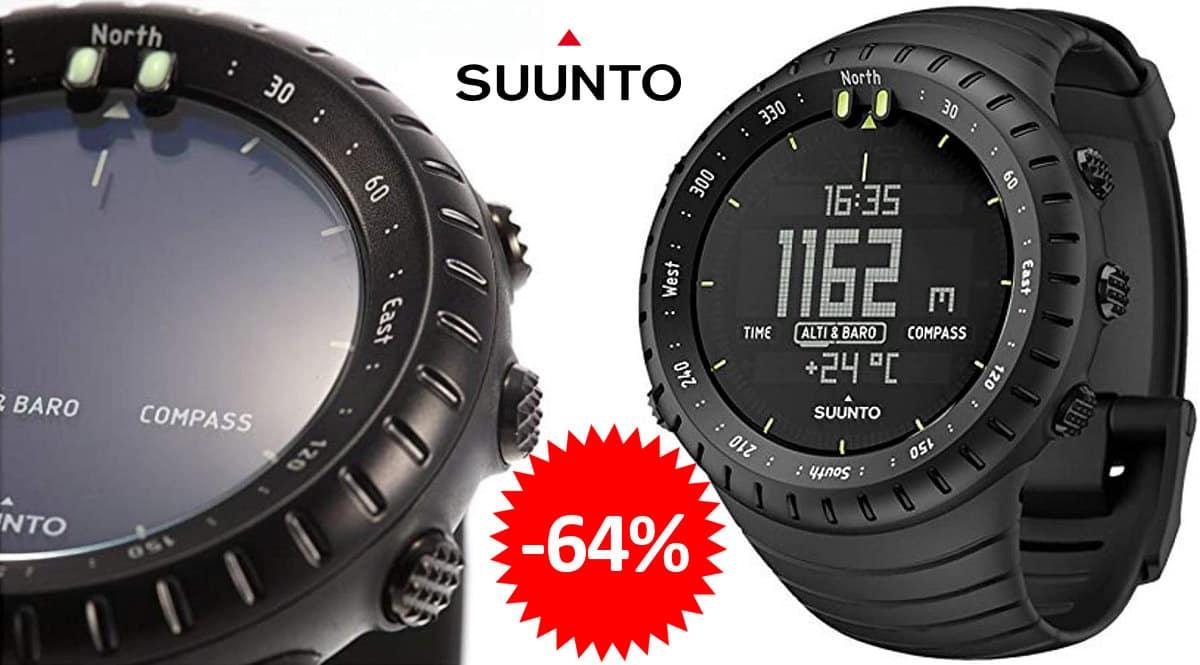 Reloj outdoor Suunto Core All Black barato, ofertas en relojes outdoor, relojes baratos, chollo