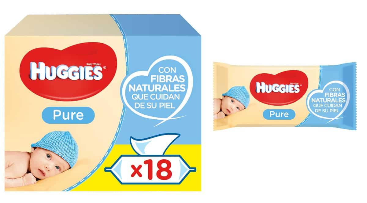Toallitas infantiles Huggies Pure baratas, toallitas para bebé de marca baratas, ofertas supermercado, chollo