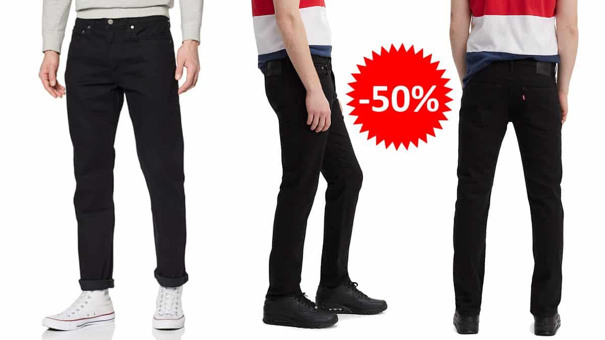 Vaqueros Levi's 502 Regular Taper baratos, ropa de marca barata, ofertas en pantalones chollo