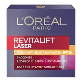 Crema de día antiedad L'Oreal Revitalift Láser SPF 20 barata, productos de belleza baratos, cremas antiedad baratas