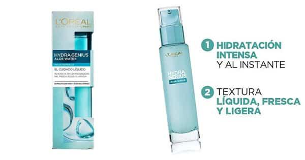 Crema hidratante L'Oreal Hydra Genius barato, cremas de día baratas, ofertas en cuidado de la piel chollo