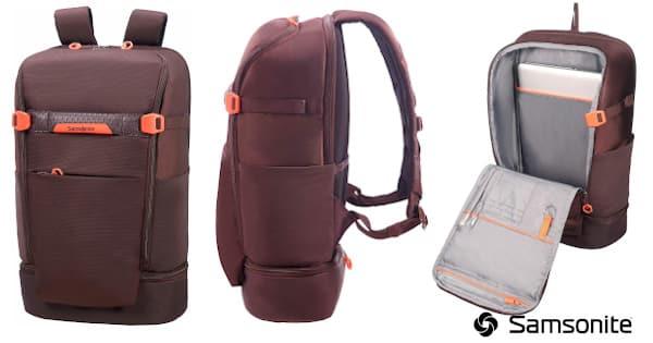 Mochila multifunción para ordenador Samsonite barata, equipaje barato, mochila portatil barata chollo