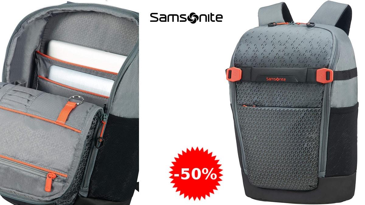 Mochila para portátil Samsonite Hexa-Packs barata, mochilas para portátil de marca baratas, ofertas informática, chollo