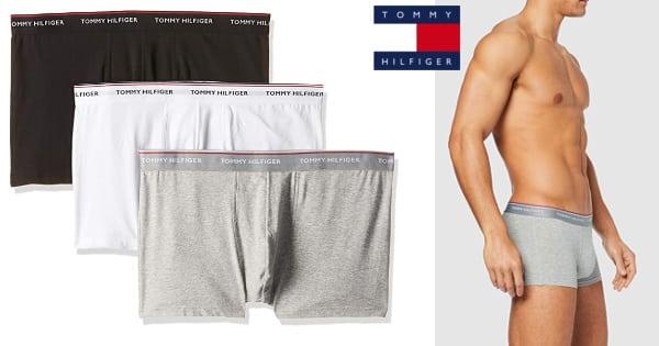 Pack de 3 boxers Tommy Hilfiger Essential Stretch baratos, calzoncillos de marca baratos, ofertas en ropa interior, chollo