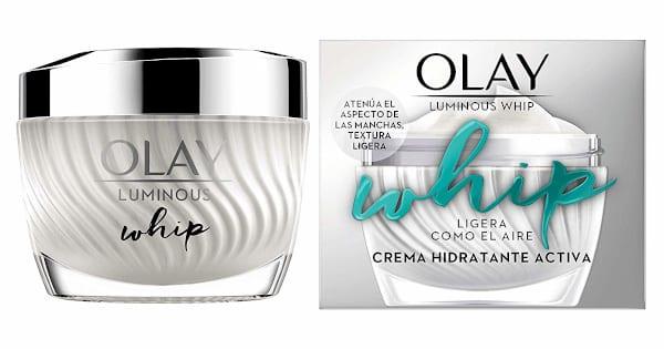 Crema de día Olay Luminous Whip barata, cremas hidratantes baratas, cuidado facial barato chollo