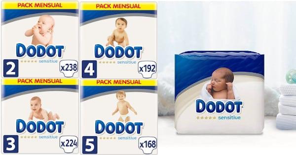 Pañales Dodot Sensitive tallas 2, 3, 4 y 5 baratos, pañales baratos, productos para bebé baratos chollo