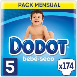Pack 174 pañales Dodot Bebé Seco talla 5 barato, pañales baratos, productos para bebé baratos