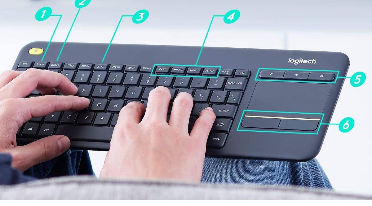 Teclado inalámbrico K400 Plus barato. Oferats en teclados inalámbricos, teclados inalámbricos baratos, chollo