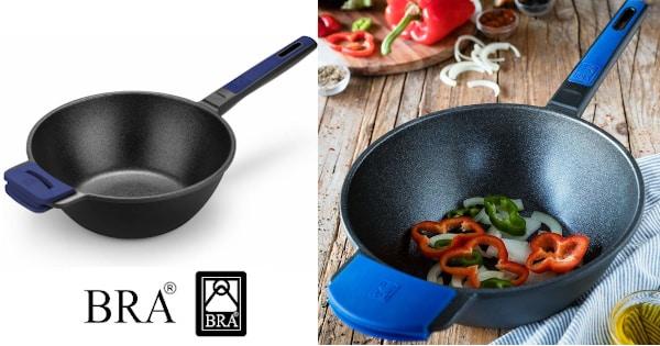 Wok de aluminio fundido BRA Advanced barato, menaje de cocina barato, ollas baratas chollo
