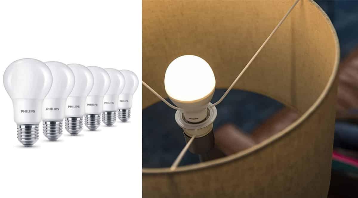 Pack de 6 bombillas LED Philips baratas. Ofertas en bombillas, bombillas baratas, chollo