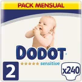 Pack de pañales Dodot Sensitive T2 barato, ofertas en pañales Dodot, pañales baratos