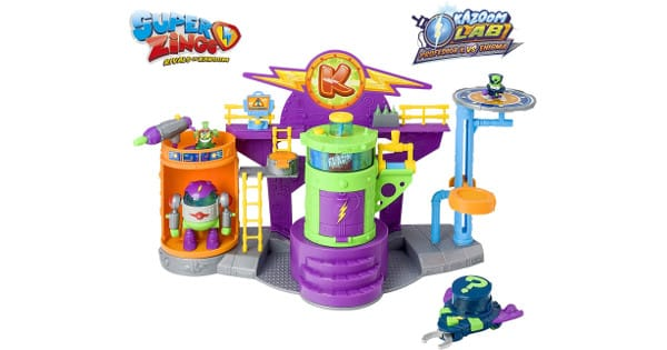 Playset SuperZings S Kazoom Lab Battle barato, juguetes baratos, chollo