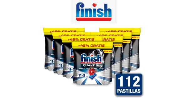 Finish Powerball Quantum Ultimate 112 pastillas barato, detergentes baratos, chollo