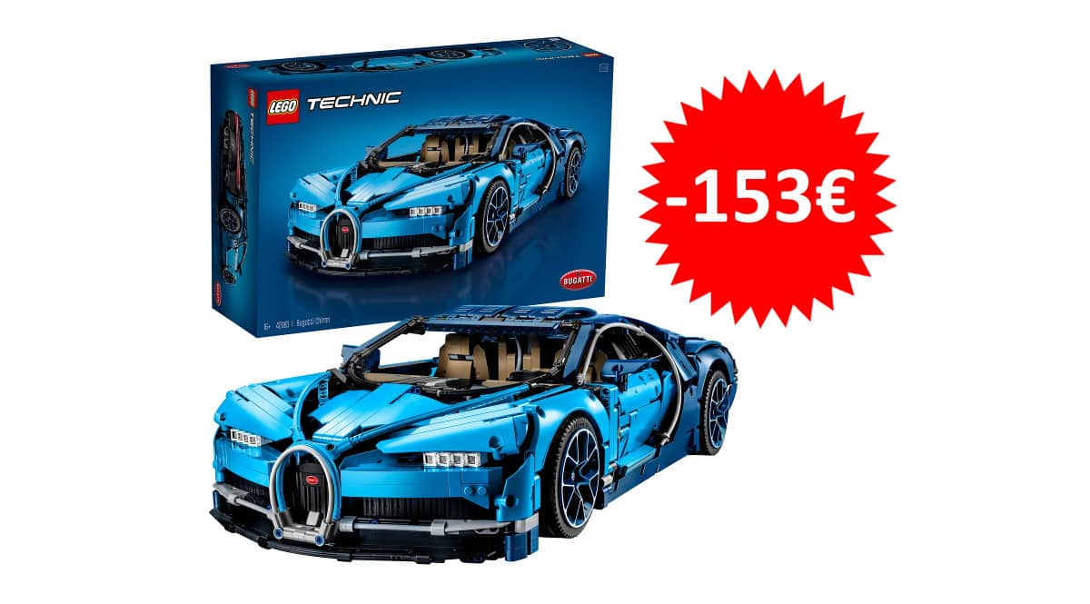 ¡Precio mínimo histórico! LEGO Technic Bugatti Chiron sólo 266 euros. Te ahorras 153 euros.