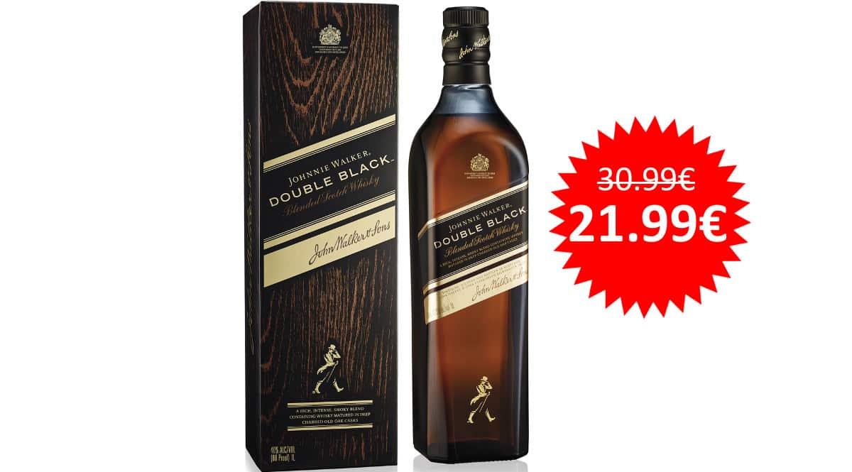 ¡¡Chollo!! Whisky escocés Johnnie Walker Double Black sólo 21.99 euros.